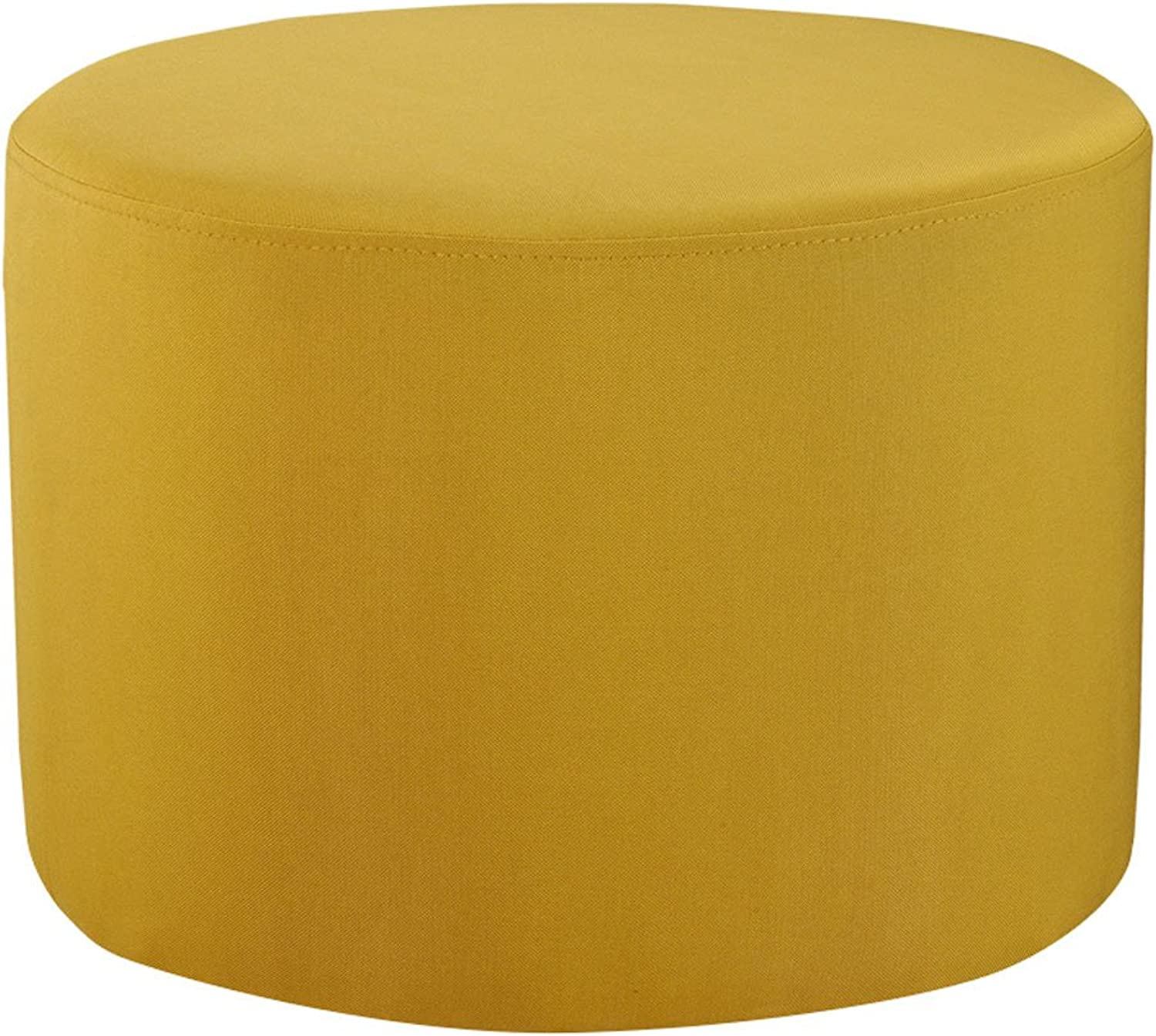 CQOZ Cloth Sofa Stool Small Sofa Stool Wear shoes shoes shoes Simple and Modern Short Stool Coffee Table 50 × 50 × 36cm Sofa Stool (color   Yellow)
