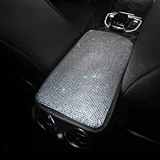 eing Auto Center Console Pad Crystal Bling Car Armrest Seat Box Cover Protector Universal Fit Diamond Car Decor Accessorie...