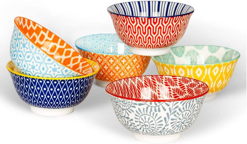 KitchenTour Direct store Inventory cleanup selling sale Ceramic Bowls Set - For Serving Kitchen oz 10