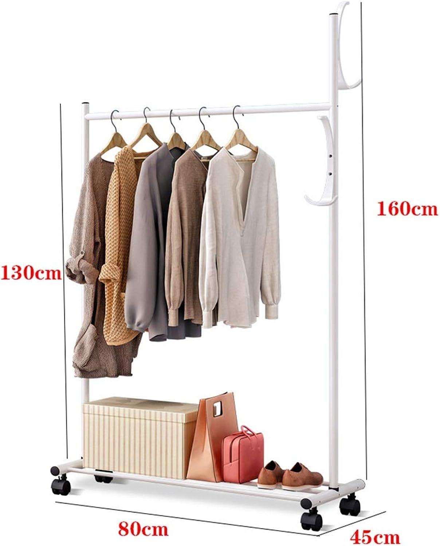 WYQSZ Coat Rack Floor Bedroom Hanger Simple Clothes Shelf Home Economical Hanger with Wheels - Coat Rack 8563