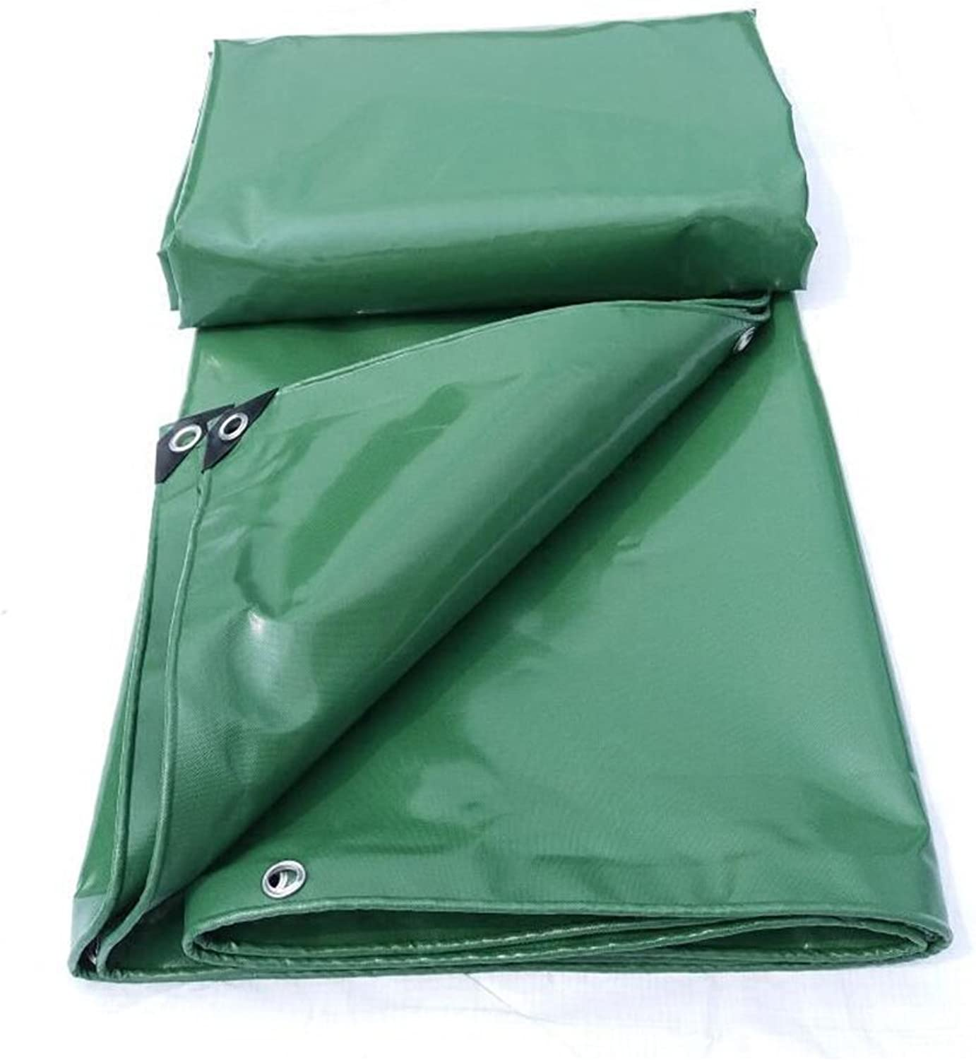 Waterproof Fireproof Sunscreen Durable PVC Knife Cloth Truck Tarpaulin Green 0.45mm Outdoor Shade cloth 520g square Meter (color   Green, Size   34m)
