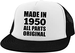 70th Birthday Made in 1950 All Parts Original - Trucker Hat Embroidery Cap Adjustable Golf Baseball - Idea for Friend Kid Daughter Son Grand-Dad Mom Visera, Gorra de Béisbol/Golf - Regalo para CU