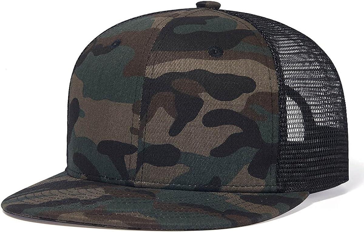 Quanhaigou Mesh Trucker Hats,Outdoor Snapback Dad Hat,Hip Hop Men Women Adjustable Baseball Caps