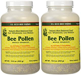 Bee Pollen - Low Moisture Whole Granulars - 10 oz (Pack of 2)