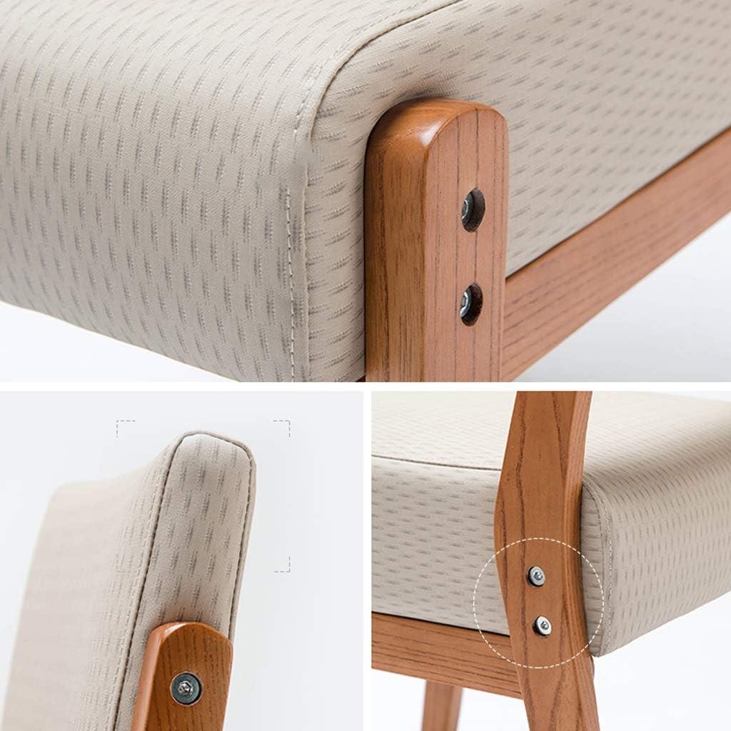 Chaise d'appoint en tissu en lin massif pour salle à manger et chaises de salon en bois massif (Restaurants) (Color : A) C