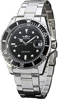 Men Automatic Mechanical Watches Winner Luxury Brand Full Steel Waterproof Mens Watches with Calendar