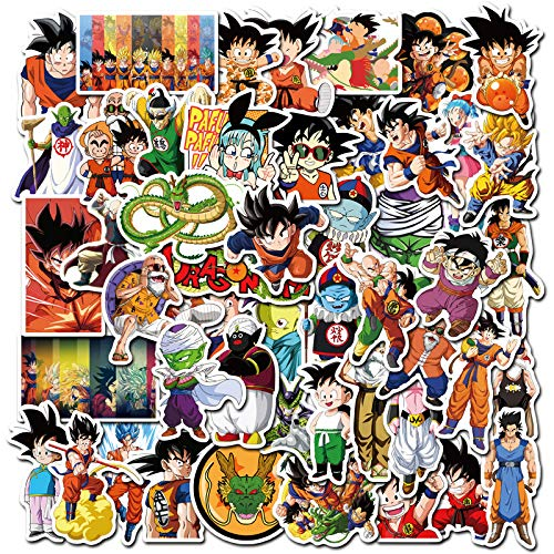 Japanese Dragon Ball Anime Sticker Goku for Skateboard Guitar DIY Decoration Luggage Laptop Decal Stickers F5 50Pcs