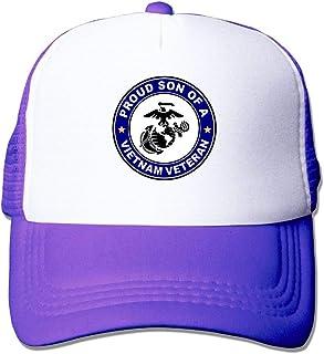 6dc887f4713 USMC Proud Son of A Vietnam Veteran 1 Womens Adjustable Mesh Baseball Hat  Plain Trucker Hat