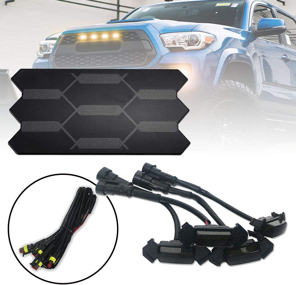 Front Grille Sensor Cover Amber Assembly Smoked Attention brand Lens shipfree Light LED