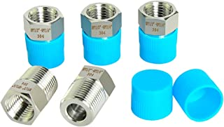 Taisher 5PCS Forging of 304 Stainless Steel Reducer Hex Bushing, 1/2