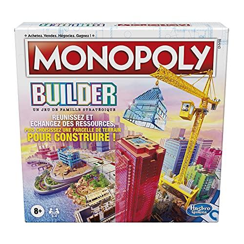 Monopoly Builder, Jeu de stratégie pour la Famille, Jeux pour Enfants, Amusant à Jouer, Jeu de Plateau Familial