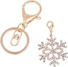 nikgic Navidad Copo de nieve colgante llavero Cinturón Hebilla Organizador para joyas accesorios, innovador DIY, bolsa, funda, Cartera, Auto Decoración