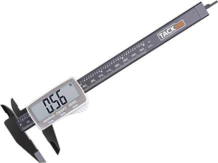 Tacklife DC01 Calibro Digitale Classico Calibro a Corsoio 150mm / 6 inch con Ampio Display LCD per Misurzione Esterna, Interna, Misurazione di Profondità e di Passo