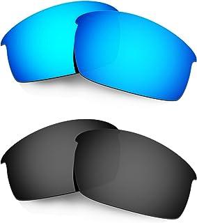 Hkuco Plus Mens Replacement Lenses For Oakley Bottlecap Sunglasses Blue/Black Polarized