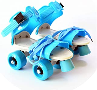 EUR Size 18-32 Adjustable Children Roller Skates 6 Colors Double Row 4 Wheels Skating Shoes Kids Two Line Toy Patines Gifts
