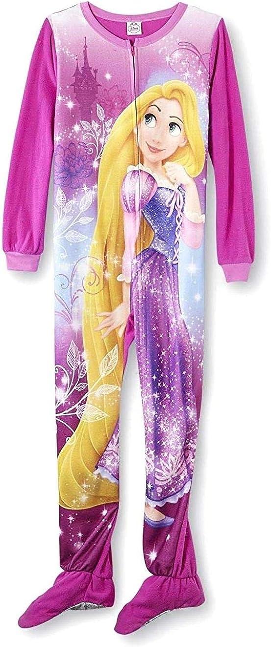 Disney Princess Tangled Rapunzel Girl Footed Blanket Sleeper Pajama Size S 6/6X