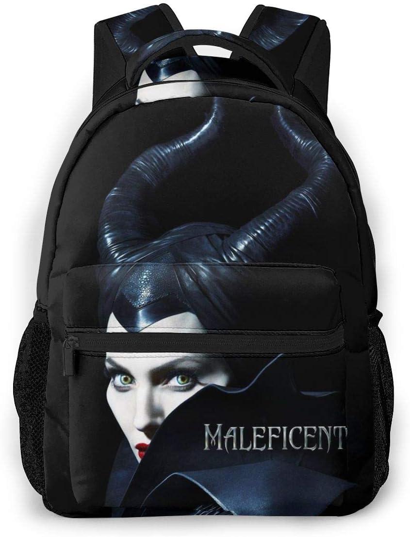 Mal-Eficent Laptop Backpack Travel Daypack Bookbag Max Online limited product 67% OFF Bag S