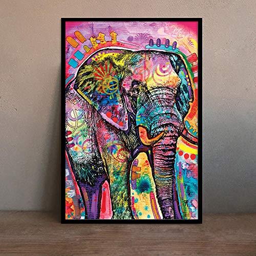 Y-fodoro Rompecabezas de Elefante, Adultos, Pintura al óleo Animal Abstracta Colorida, Rompecabezas de Madera de 1000 Piezas, Hombres, Mujeres, ensamblar Juguetes