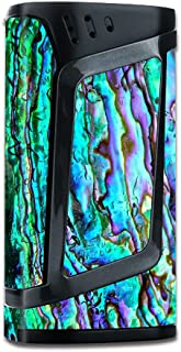 Skin Decal Vinyl Wrap for Smok Alien 220w TC Vape Mod Skins Stickers Cover/Abalone Ripples Green Blue Purple Shells