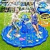 Gogowin UFO噴水マット プレイマット 噴水プール ビニールプール 水遊び ビーチマット 子供用 親子遊び 夏の日 芝生遊び 庭 プール ビーチ 直径175CM お誕生日 プレゼント