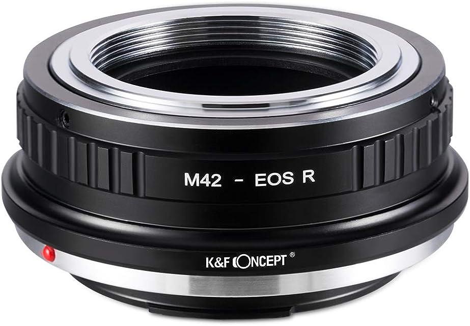 K&F Concept- Adaptador Lentes para Montar M42 a Canon EOS R Camara (M42-EOS R)
