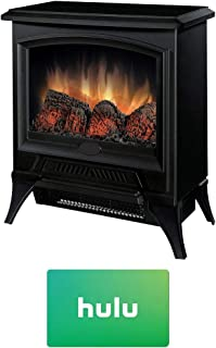 Dimplex CS-12056A Compact Electric Stove-Style Fireplace w/Hulu $25 Gift Card