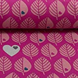 Swafing GmbH byGraziela Sweat Blätter Erika/pink - Stoff -