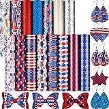 18 Blatt Flagge Tag Kunstleder Ohrring Herstellung Kit