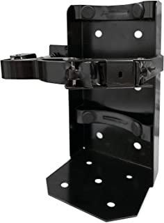 (Lot of 1) Universal Running Board Vehicle Bracket for a 20lb. Fire Extinguisher, Heavy Duty, Color Black