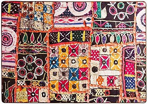 LiuJF Vintage Teppich, Boho Farbe helle Wohnzimmer Sofa Schlafzimmer Bodenmatte Teppich rechteckige L e 100-140cm (Größe   100  15cm)