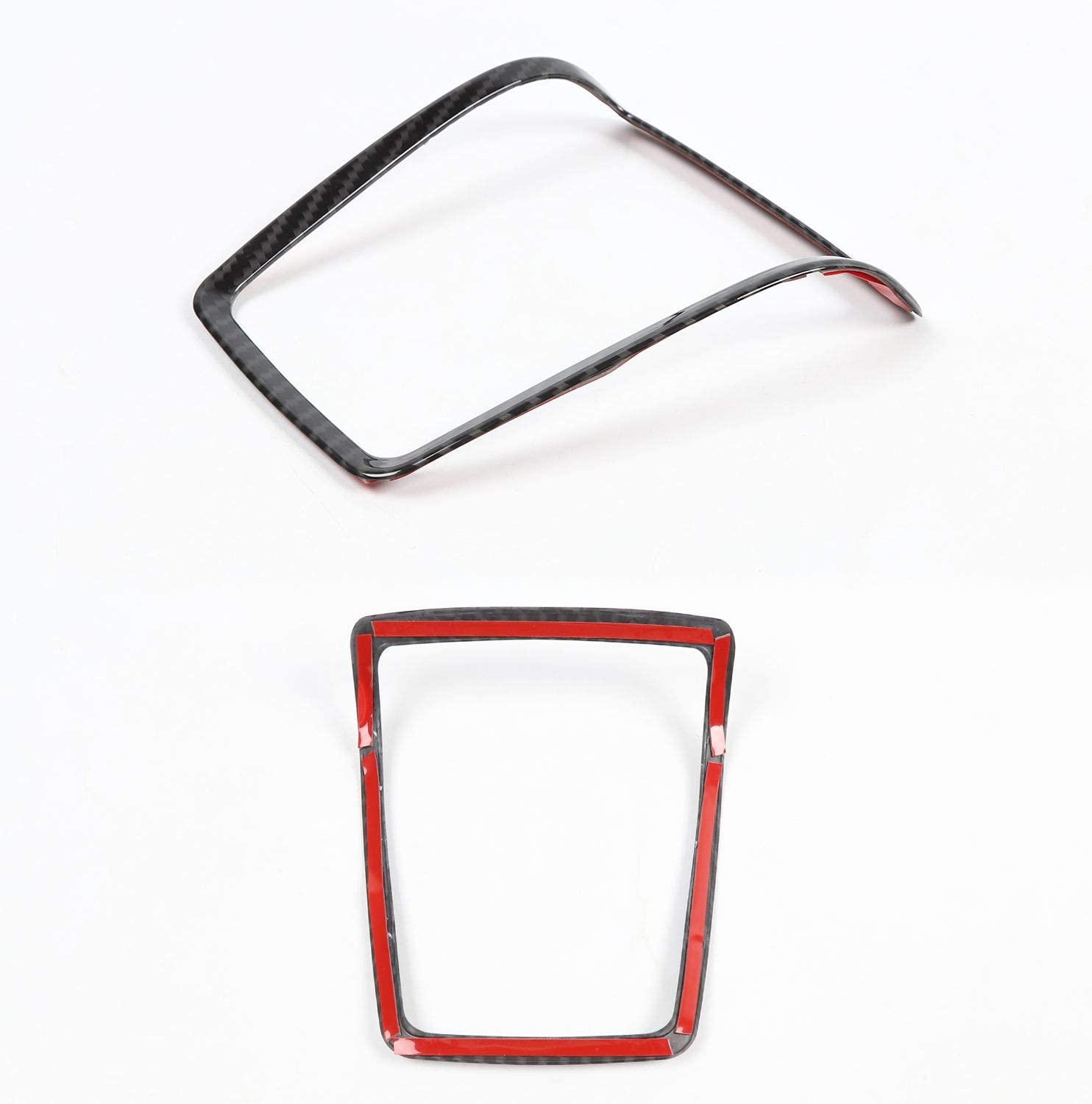 Voodonala for 2009-2014 Ford F150 Steering Wheel Accessories Cover Trim ABS Red 2 pcs