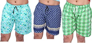MUKHAKSH (Pack of 3 Women's/Girls/Ladies Hot Soft Cotton Printed Export Quality Women Shorts with Pockets/Lounge Shorts/Night Shorts/Nikar for Women, Prints May Vary