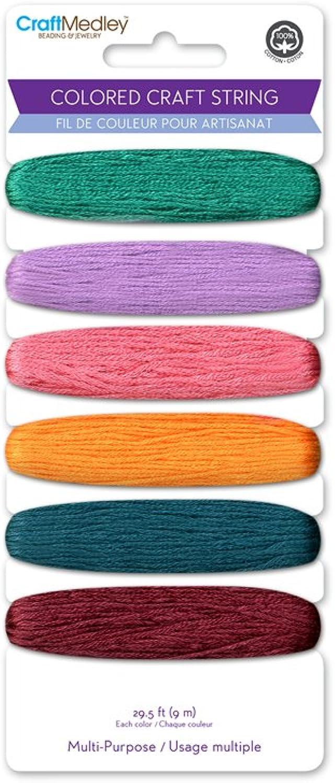 Multicraft Imports Craft Medley Mehrzweck-farbigen Mehrzweck-farbigen Mehrzweck-farbigen Craft Saite, 29.5-feet, Darks B00FOXZBCA   Treten Sie ein in die Welt der Spielzeuge und finden Sie eine Quelle des Glücks  2b3009