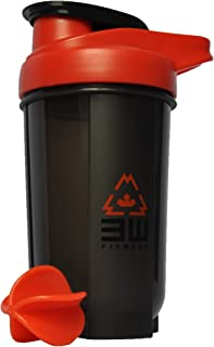Protein Shaker Bottle 500ML with Whisk Ball - BPA/Phtalate Free, Bacteria & Odor Free, Leak Proof, Carrying Handle, Dishwa...