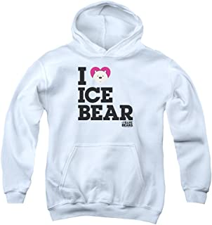 We Bare Bears Heart Ice Bear Unisex Youth Pull-Over Hoodie for Boys and Girls