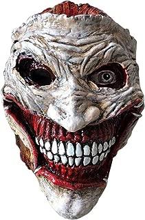 Batman: Death of The Family- Joker Mask Halloween Creepy Mask Costume Cosplay Mask,Adult Size White