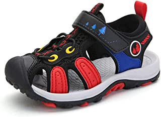 Boys Sandals Girls Sport Closed-Toe Kids Outdoor Hiking Beach Shoes Summer Breathable Lightweight
