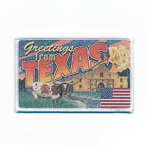 Preisvergleich Produktbild 90 x 58 mm Texas Dallas Retro Nostalgie Patch USA Edel Aufnäher Aufbügler 0739 B
