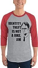 Identity Theft is Not A Joke Jim Baseball Shirt Long Sleeve The Office TV Series