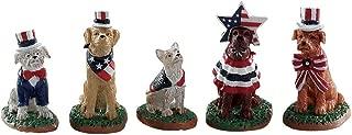 Lemax Village Collection Patriotic Pups, Set of 5#82600
