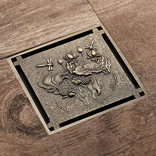 Zhedyi Chinees alle koperen bodemafloop rooster vierhoekig deodorantdrain haar badkamer grote rivier brons haarvanger douchedrain
