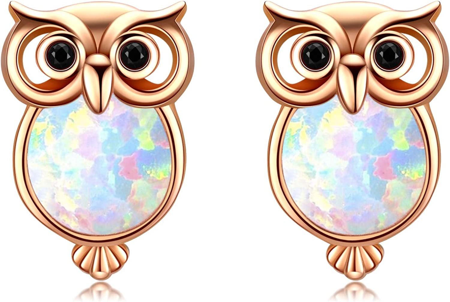 Cuoka Owl Gifts Silver Earrings for Lover Studs At the price Ranking TOP15 Opal