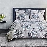 Bedsure Bettwäsche 135x200 cm Bettbezug Set mit Damast Muster