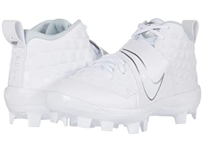 Nike Kids Force Trout 6 Pro MCS Baseball (Toddler/Little Kid/Big Kid) (White/White/Pure Platinum) Kids Shoes