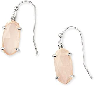 Kendra Scott Lemmi Drop Earrings in Rose-Quartz, Rhodium Plated