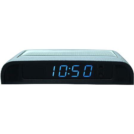 Auto Uhr Und Thermometer Auto-Elektronische Uhr Digitaluhr 2 in 1 Funktion Digital-Elektronische Thermometer Digitale LED-Hintergrundbeleuchtung mit einer Taste starten Car Styling Zubeh/öR Schwarz