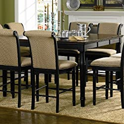 Two tone black amaretto dining table 36 inches tall