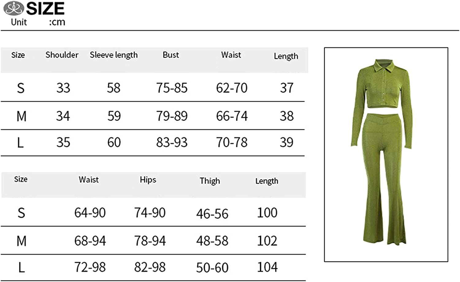 2 Piece Outfits for Women Sexy Long Sleeve Button Down Shirts Top High Waist Flared Pants Set Solid Color Y2K Suit