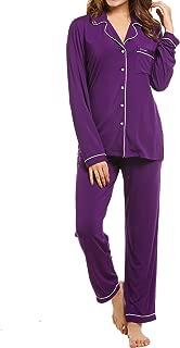 Pajamas Set Long Sleeve Sleepwear Womens Button Down Nightwear Soft Pj Lounge Sets XS-XXL