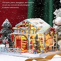 ミニチュア ハウス ファニチャー, ミニチュア クリスマス ハウス, ビビッド クレバー ハンドクラフト おもちゃ ギフト ミニチュア クラフト クリスマス 家具付き モデル(K-058 Three-piece Santa Claus Puppet Set, Reindeer)
